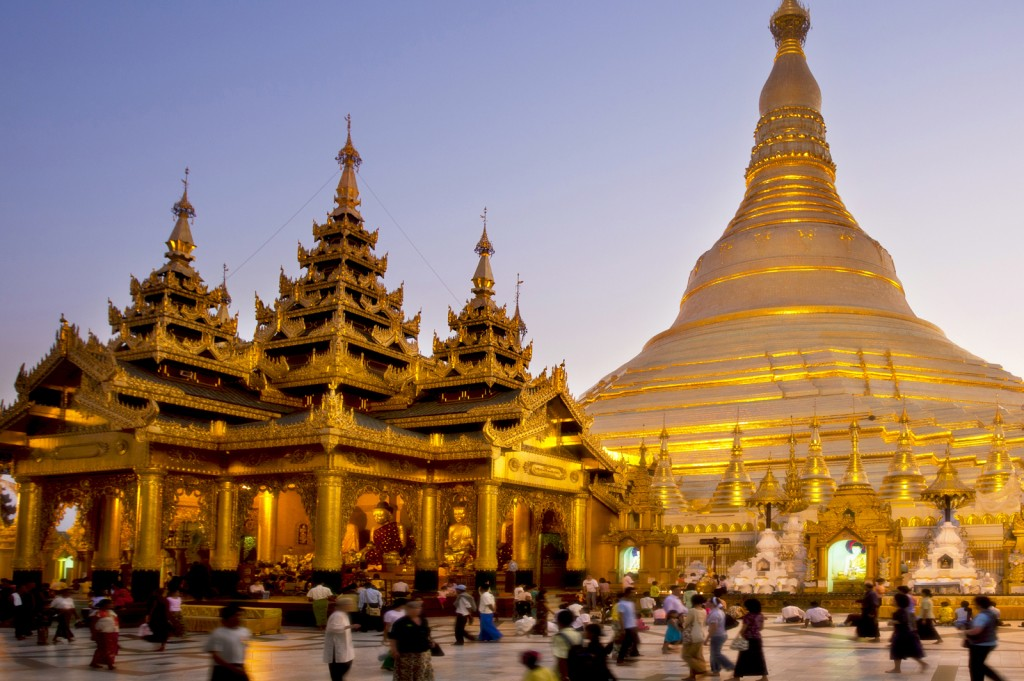 Shwedagon Pagoda in Yangon - Burma